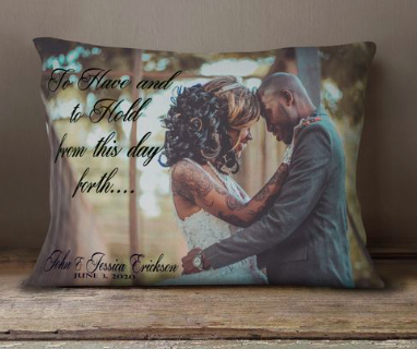 valentines day gift idea for him, valentines day gift idea for her, unique valentines day gift idea, custom pillow, couples pillow